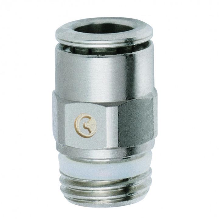 """Прямой пневмосоединитель трубка 8 мм резьба G1/4"""" S6510 8-1/4"""