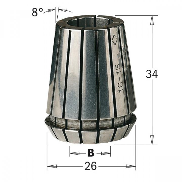 184.127.25 CMT ER25 D раб.=12,7 цанга высокоточная