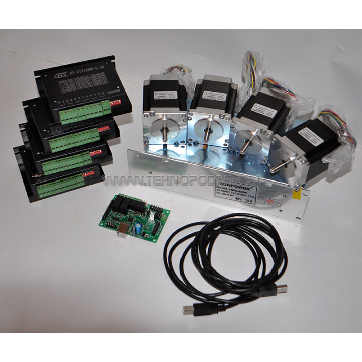 Набор электроники USB 4хNEMA23_48V 10A