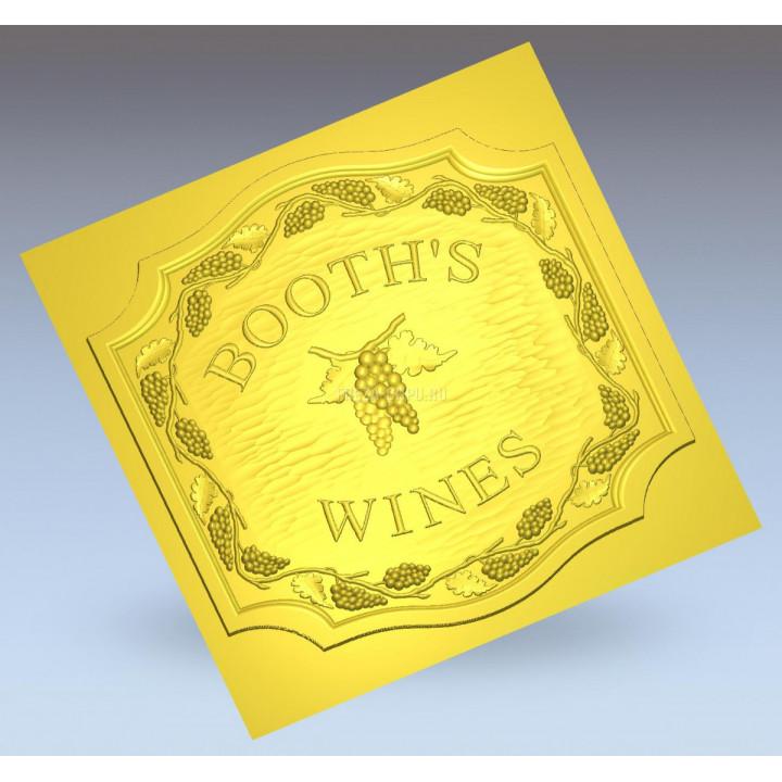 Багет 034 виноград вино booths wines
