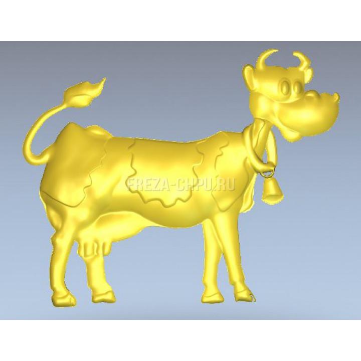 Корова мультфильм Cow_019