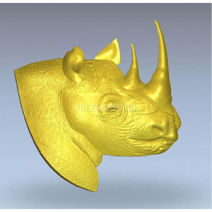 Голова носорога профиль Rhino_Head_030