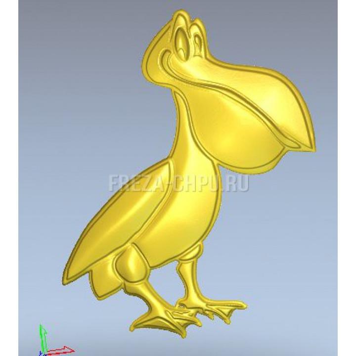 Пеликан птица мультфильм Pelican_031