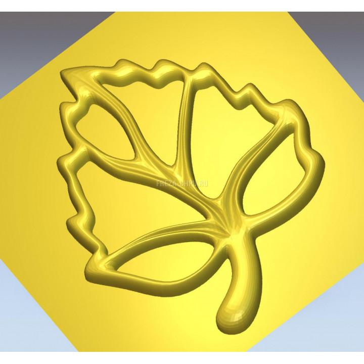 Узор 015 лист дерева