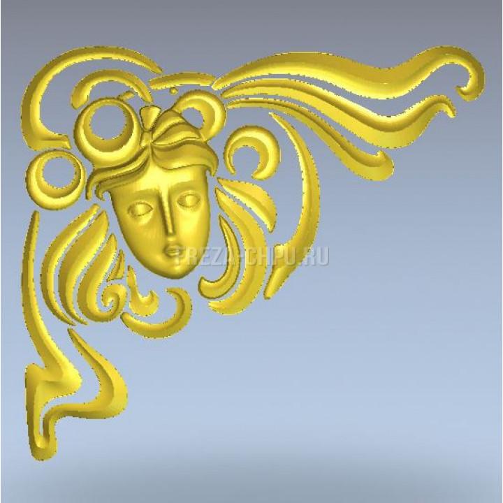 Узор 038 декор лицо женское маска