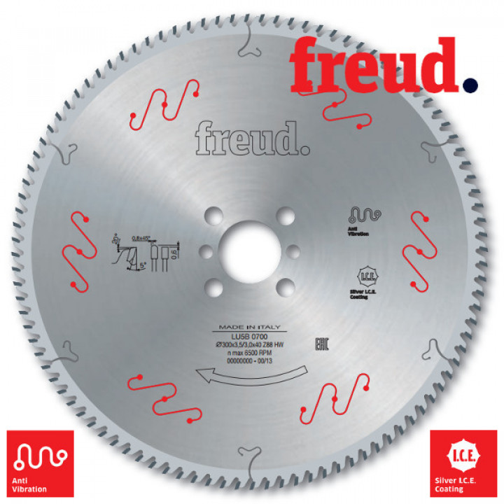 Пильный диск по алюминию и пвх 400x3.5/3.0x30 z120 Freud LU5B 2200