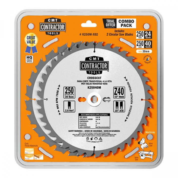 K250M-X02 CMT Комплект из 2-х дисков 250x2.6/1.8x30 Z24/Z40 ATB