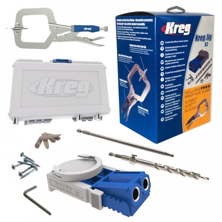 Приспособление Kreg Jig Jr для соединения на саморез со струбциной KHC-MICRO