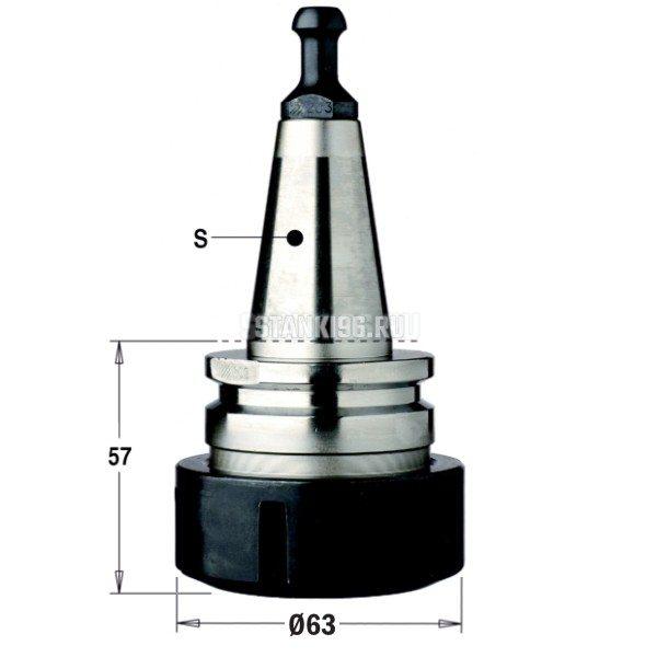 183.201.01 CMT Патрон высокоточный для цанги ER40 хвостовик S=ISO30/BIESSE правое вращение