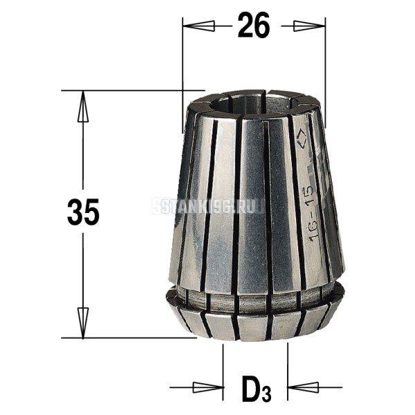 184.100.25 CMT ER25 D раб.=10 цанга высокоточная