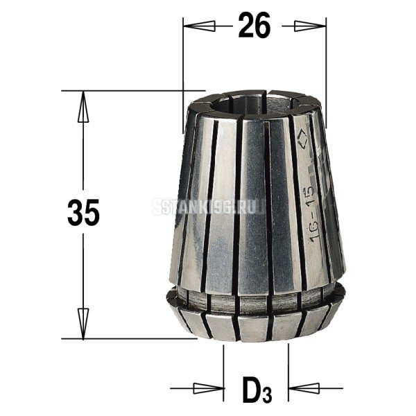 184.140.25 CMT ER25 D раб.=14 цанга высокоточная