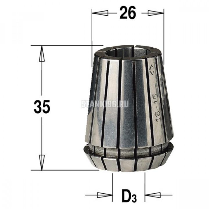 184.160.25 CMT ER25 D раб.=16 цанга высокоточная