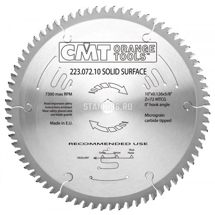 223.072.10M CMT Диск пильный 250x30x3,2/2,5 z=72 0° прямой с фаской/трапеция зуб