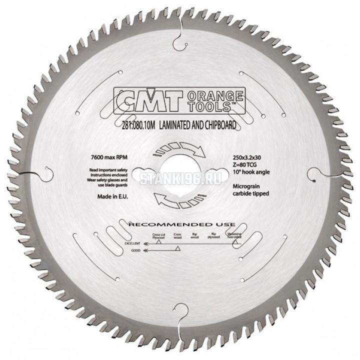 281.108.14M CMT Диск пильный 350x30x3,5/2,5 10º прямой-трапеция зуб Z=108