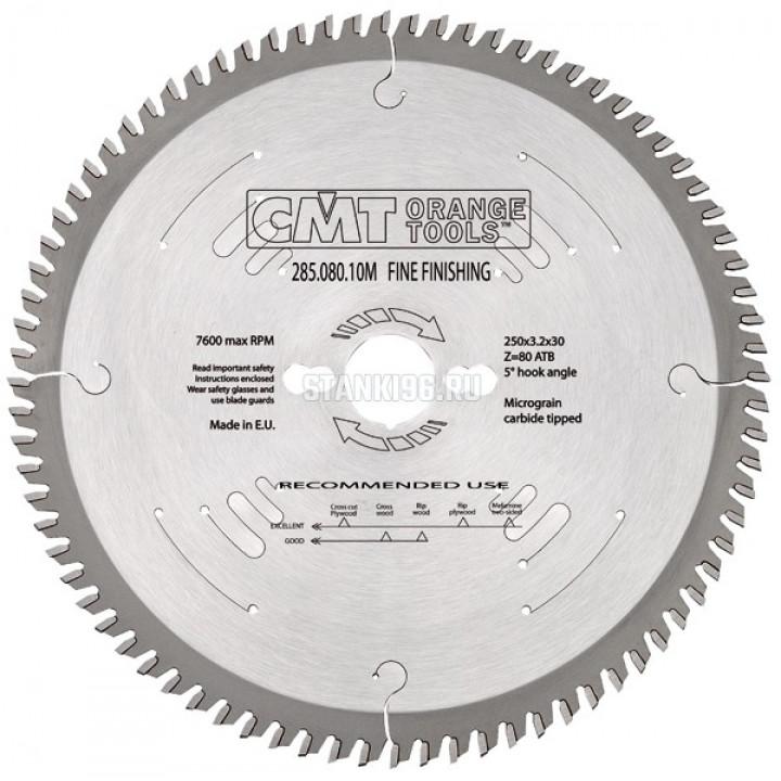 285.072.22M CMT Диск пильный 305x30x3,2/2,2 10° 15° косой зуб Z=72