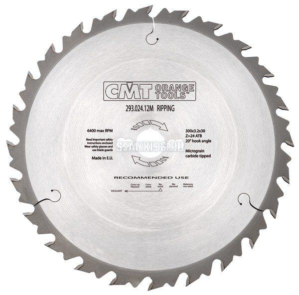 290.250.24M CMT Диск пильный 250x30x2,8/1,8 20° 10° косой зуб Z=24