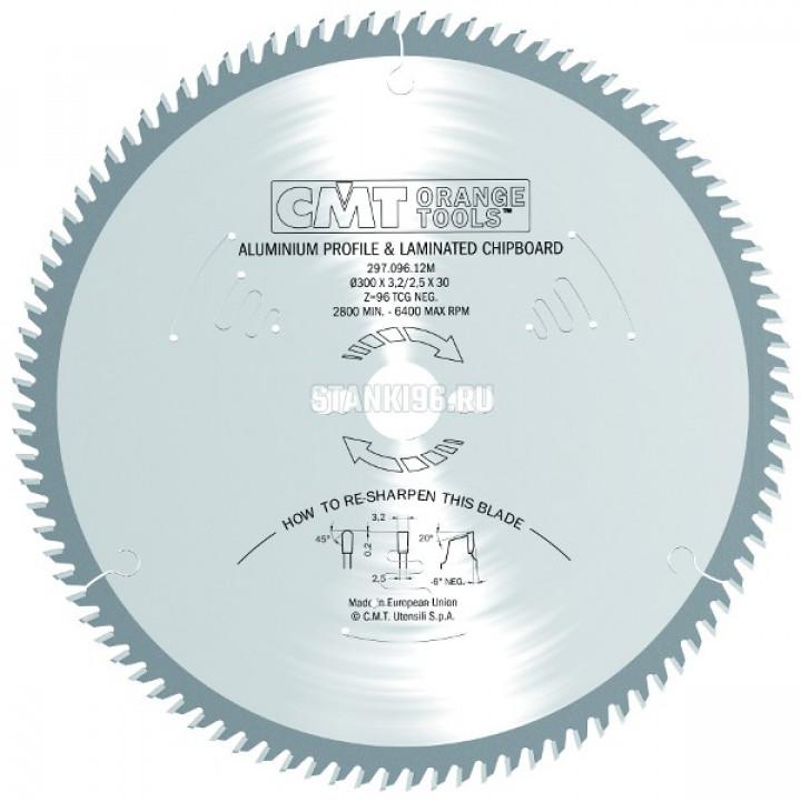 296.190.64M CMT Диск пильный 190x30x2,8/2,2 -6° прямой-трапеция зуб Z=64