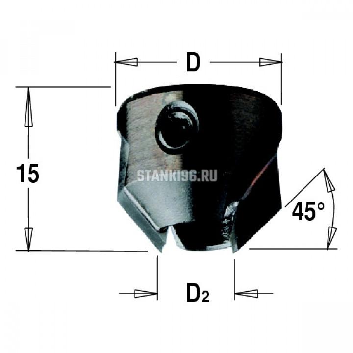 316.090.11 CMT Зенкер для сверла с твердосплавной напайкой Z2 D раб.=18 d=9 правое вращение