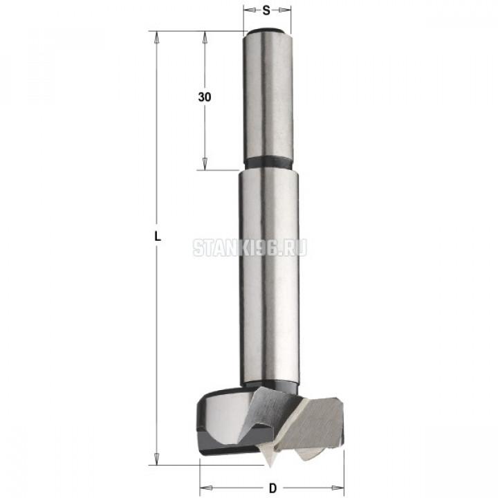 512.101.31 CMT Сверло чашечное легированная сталь 10x90 Z=2+2 хвостовик S=10x30 правое вращение
