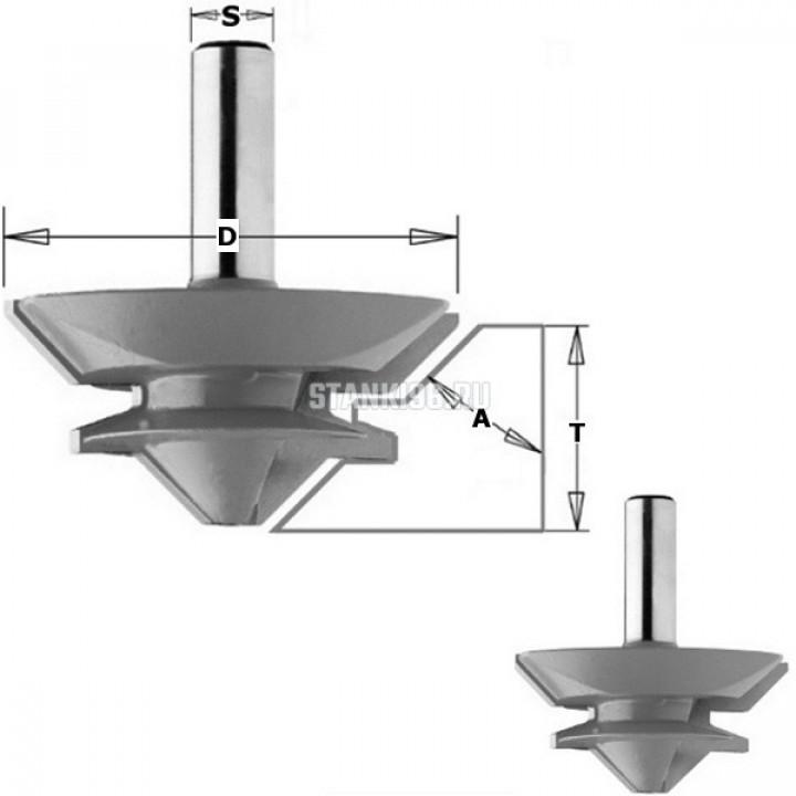 Фреза концевая сращивание 15-28,5мм (Угол 90/180гр.) S=12 D=70x31,7 CMT PRO 955.4570