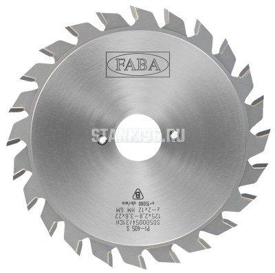 Диск подрезной пилы 120x2.2x22 z12+12 составной 2.8-3.6 PI-405T Faba