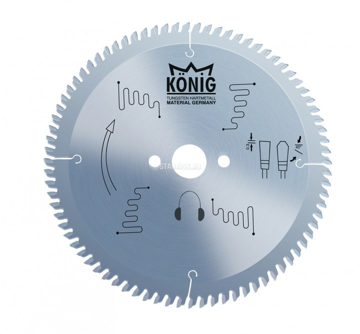 Пильный диск по алюминию и пвх 300x3.2/2.5x32 z96 Konig