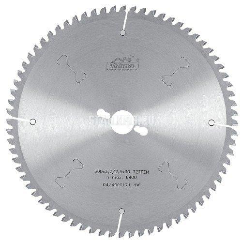 Пильный диск по алюминию и пвх 400x3.6/2.8x30 z96 TFZN Pilana