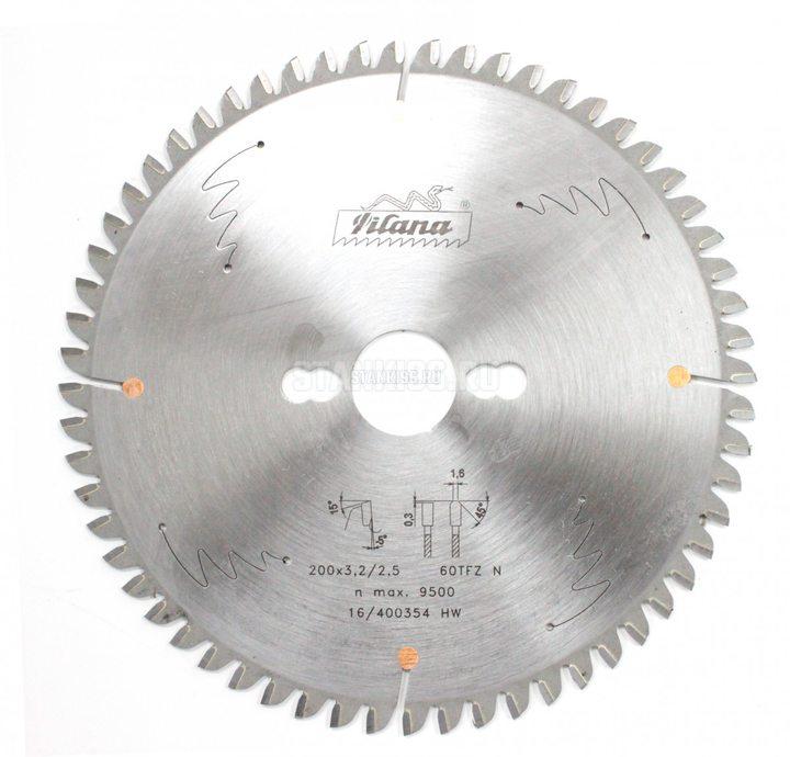 Пильный диск по алюминию и пвх 200x2.5/3.2x30 z60 TFZ N Pilana 87-11