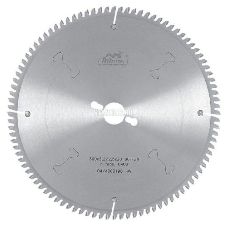 Пильный диск по алюминию и пвх 300x3.2/2.5x30 z96 Pilana 87-11 TFZ N
