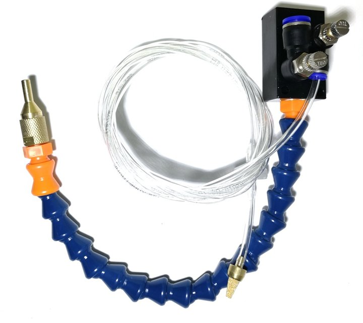 Комплект системы охлаждения СОЖ трубка, клапан, распылитель FOG-8BL